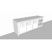 Balcão Refrigerado Horizontal   3P 510L - Compacto