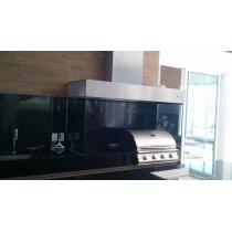 CB300 - Coifa Caixa Baixa INOX 430 - Largura até 3,00m