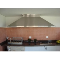 PR150S - Coifa Pirâmide INOX 304 - Largura até 1,50m