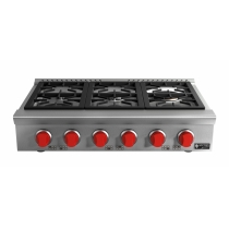 RANGE TOP 6 BOCAS 24.000 watts - Red