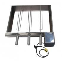 (F) KIT - Suporte + Motor de espetos Giratórios para churrasqueiras a gás