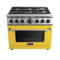 Fogão Wictory Gourmet 6 Bocas - Yellow