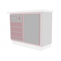 Balcão Refrigerado Horizontal 1 Porta 130L