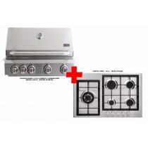 churrasqueira a gás Evol Florence + cooktop Orbis 5 bocas ECONOMIZE R$ 1.630,00
