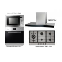 conjunto cozinha gourmet italiano - Crissair - cooktop + coifa + forno + microondas economize R$ 3.696,00