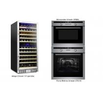 kit gourmet Crissair - Adega 117 + Forno Elétrico + Microondas Ecomomize R$ 5.929,00