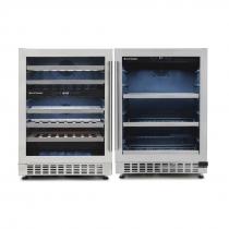 Kit Elettromec: Adega de Vinhos 45 Garrafas CV-2BI-45-XV + Frigobar 135 FB-BI-135-XV