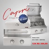 Evol Capri - Churrasqueira à Gás 100% INOX 304 2 Queimadores - FEITA PARA EMBUTIR - modelo NOVO