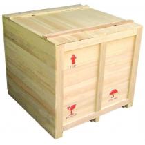 Embalagem de madeira para envio por transportadora