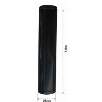 Duto para Exaustão - Reto - 1,0m x Ø 25cm - PINTADO PRETO