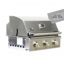 HOME E GRILL SMART - 3 Queimadores - 100% INOX 304 - FEITA PARA EMBUTIR