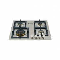 Cooktop Professionale Elanto Semiprofissional a Gás 4 Bocas Inox 60cm 220V - LNTP64GD5BX